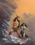 Original Comic Art:Paintings, Ken Kelly GURPS: Conan and the Queen of the Black Coast Role-Playing Game Supplement Cover Painting Original Art (...