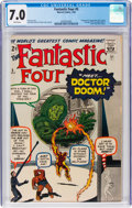 Silver Age (1956-1969):Superhero, Fantastic Four #5 (Marvel, 1962) CGC FN/VF 7.0 White pages....