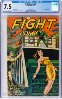 Fight Comics #41 (Fiction House, 1945) CGC VF- 7.5 Off-white to white pages