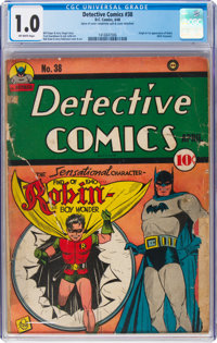 Detective Comics #38 (DC, 1940) CGC FR 1.0 Off-white pages