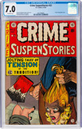 Golden Age (1938-1955):Crime, Crime SuspenStories #22 (EC, 1954) CGC FN/VF 7.0 Off-white pages....
