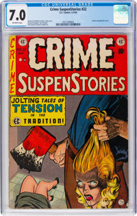 Crime SuspenStories #22 (EC, 1954) CGC FN/VF 7.0 Off-white pages