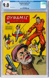 Dynamic Comics #14 (Chesler, 1945) CGC VF/NM 9.0 Off-white to white pages