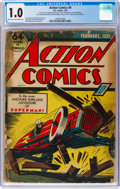 Golden Age (1938-1955):Superhero, Action Comics #9 (DC, 1939) CGC FR 1.0 Light tan to off-white pages....