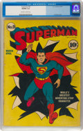 Golden Age (1938-1955):Superhero, Superman #9 (DC, 1941) CGC VG/FN 5.0 Off-white to white pages....