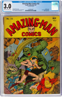 Amazing-Man Comics #22 (Centaur, 1941) CGC GD/VG 3.0 Cream to off-white pages