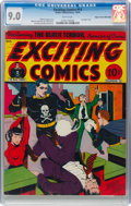 Golden Age (1938-1955):Superhero, Exciting Comics #13 Mile High Pedigree (Nedor, 1941) CGC VF/NM 9.0 White pages....