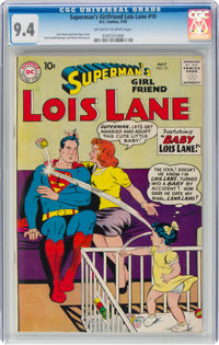 Superman's Girlfriend Lois Lane #10 (DC, 1959) CGC NM 9.4 Off-white to white pages