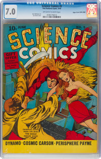 Science Comics #5 Mile High Pedigree (Fox, 1940) CGC FN/VF 7.0 Off-white to white pages