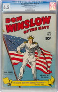Golden Age (1938-1955):War, Don Winslow of the Navy #6 (Fawcett Publications, 1943) CGC FN+ 6.5 Cream to off-white pages....
