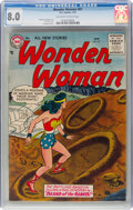 Silver Age (1956-1969):Superhero, Wonder Woman #87 (DC, 1957) CGC VF 8.0 Off-white to white pages....