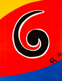 Alexander Calder (1898-1976) Untitled, from Flying Colors (five works), 1975 Lithographs in colors on Arches paper 20...
