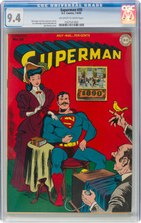 Superman #35 (DC, 1945) CGC NM 9.4 Off-white to white pages