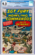 Silver Age (1956-1969):War, Sgt. Fury and His Howling Commandos #10 (Marvel, 1964) CGC NM- 9.2 Off-white to white pages....