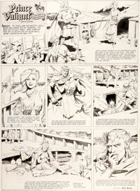 Hal Foster Prince Valiant #524 Sunday Comic Strip Original Art dated 2-23-47 (King Features Syndicate, 1947)