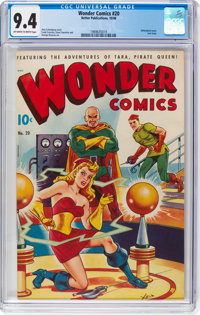 Wonder Comics #20 (Better Publications, 1948) CGC NM 9.4 Off-white to white pages