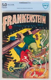 Frankenstein Comics #14 (Prize, 1948) CBCS VG/FN 5.0 Off-white to white pages