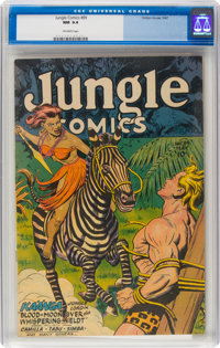 Jungle Comics #89 (Fiction House, 1947) CGC NM 9.4 Off-white pages