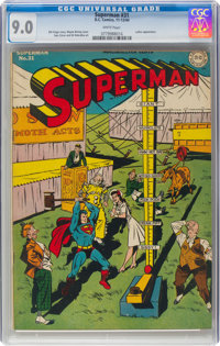 Superman #31 (DC, 1944) CGC VF/NM 9.0 White pages