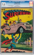 Golden Age (1938-1955):Superhero, Superman #19 (DC, 1942) CGC FN/VF 7.0 Off-white to white pages....