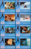 """Movie Posters:James Bond, The Living Daylights (United Artists, 1987). Near Mint. Lobby Card Set of 8 (11"""" X 14""""). James Bond.. ... (Total: 8 Items)"""