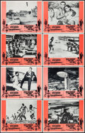 """Movie Posters:James Bond, Thunderball/You Only Live Twice Combo (United Artists, R-1971). Very Fine/Near Mint. Lobby Card Set of 8 (11"""" X 14""""). James ... (Total: 8 Items)"""