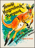 """Movie Posters:Advertising, Tierpark Hagenbeck (c. 1950s). Rolled, Very Fine. German Advertising Poster (16.5"""" X 23.25""""). Miscellaneous.. ..."""
