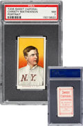 Baseball Cards:Singles (Pre-1930), 1909-11 T206 Sweet Caporal 150 Christy Mathewson (Portrait) PSA NM 7 - Pop One, None Higher with Confirmed Brand! ...