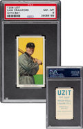 Baseball Cards:Singles (Pre-1930), 1909-11 T206 Uzit Sam Crawford (With Bat) PSA NM-MT 8 - One of theFinest Uzit T206s Known. ...