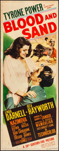 "Movie Posters:Drama, Blood and Sand (20th Century Fox, 1941). Rolled, Fine+. Insert (14""X 36"") Carlos Ruano-Llopis Artwork. Drama.. ..."