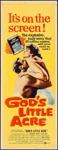 """Movie Posters:Drama, God's Little Acre (United Artists, 1958). Rolled, Very Fine-. Insert (14"""" X 36""""). Drama.. ..."""