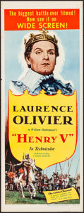 """Movie Posters:Drama, Henry V (United Artists, R-1954). Rolled, Very Fine-. Insert (14"""" X 36""""). Drama.. ..."""