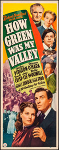 """Movie Posters:Drama, How Green Was My Valley (20th Century Fox, 1941). Rolled, Fine/Very Fine. Insert (14"""" X 36""""). Drama.. ..."""