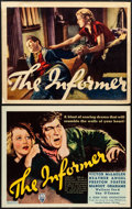 "Movie Posters:Drama, The Informer (RKO, 1935). Overall: Very Fine-. Title Lobby Card & Lobby Card (11"" X 14""). Frederic C. Madan Title Card Artwo... (Total: 2 Items)"
