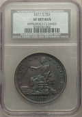 Trade Dollars, 1877-S T$1 -- Improperly Cleaned -- NCS Details. XF. NGC Census: (89/1384). PCGS Population: (192/2117). XF40. Mintage 9,51...