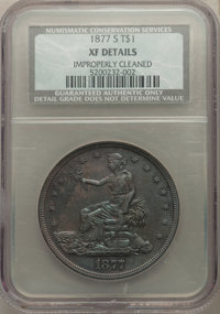 1877-S T$1 -- Improperly Cleaned -- NCS Details. XF. NGC Census: (89/1384). PCGS Population: (192/2117). XF40. Mintage 9...