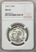 Walking Liberty Half Dollars, 1941-S 50C MS64 NGC. NGC Census: (2767/1134). PCGS Population: (3911/3434). CDN: $170 Whsle. Bid for problem-free NGC/PCGS ...