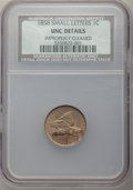 Flying Eagle Cents, 1858 1C Small Letters -- Improperly Cleaned -- NCS. Unc Details. NGC Census: (4/768). PCGS Population: (2/859). CDN: $475 W...