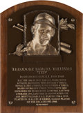 Baseball Collectibles:Others, 1966 Ted Williams Baseball Hall of Fame Bronze Induction Plaque, Personal Model. ...