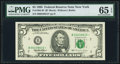 Small Size:Federal Reserve Notes, Fr. 1984-B* $5 1995 Federal Reserve Star Note. PMG Gem Uncirculated 65 EPQ.. ...