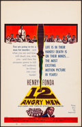 """Movie Posters:Drama, 12 Angry Men (United Artists, 1957). Very Fine. Window Card (14"""" X 22""""). Drama.. ..."""
