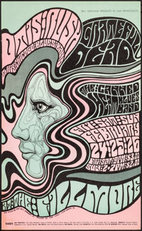 "Grateful Dead at the Fillmore (Bill Graham Presents, 1967). Fine/Very Fine. Second Printing Concert Poster (13.75""..."
