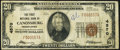 National Bank Notes:Pennsylvania, Canonsburg, PA - $20 1929 Ty. 1 The First NB Ch. # 4570 Fine.. ...