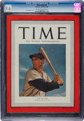 Autographs:Baseballs, 1950 Ted Williams Time Magazine CGC 9.6--Population Four, Two Higher!...