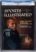 Football Collectibles:Publications, 1959 Johnny Unitas Sports Illustrated Magazine CGC 6.5--Population One of Three, None Higher!...