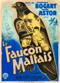 "Movie Posters:Film Noir, The Maltese Falcon (Warner Brothers, 1946). Fine+ on Linen. First Post-War Release French Grande (47"" X 63"").. ..."