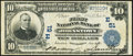 National Bank Notes:Pennsylvania, Johnstown, PA - $10 1902 Plain Back Fr. 624 The First NB Ch. # (E)51 Fine-Very Fine.. ...