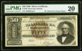 Large Size:Silver Certificates, Fr. 328 $50 1880 Silver Certificate PMG Very Fine 20.. ...