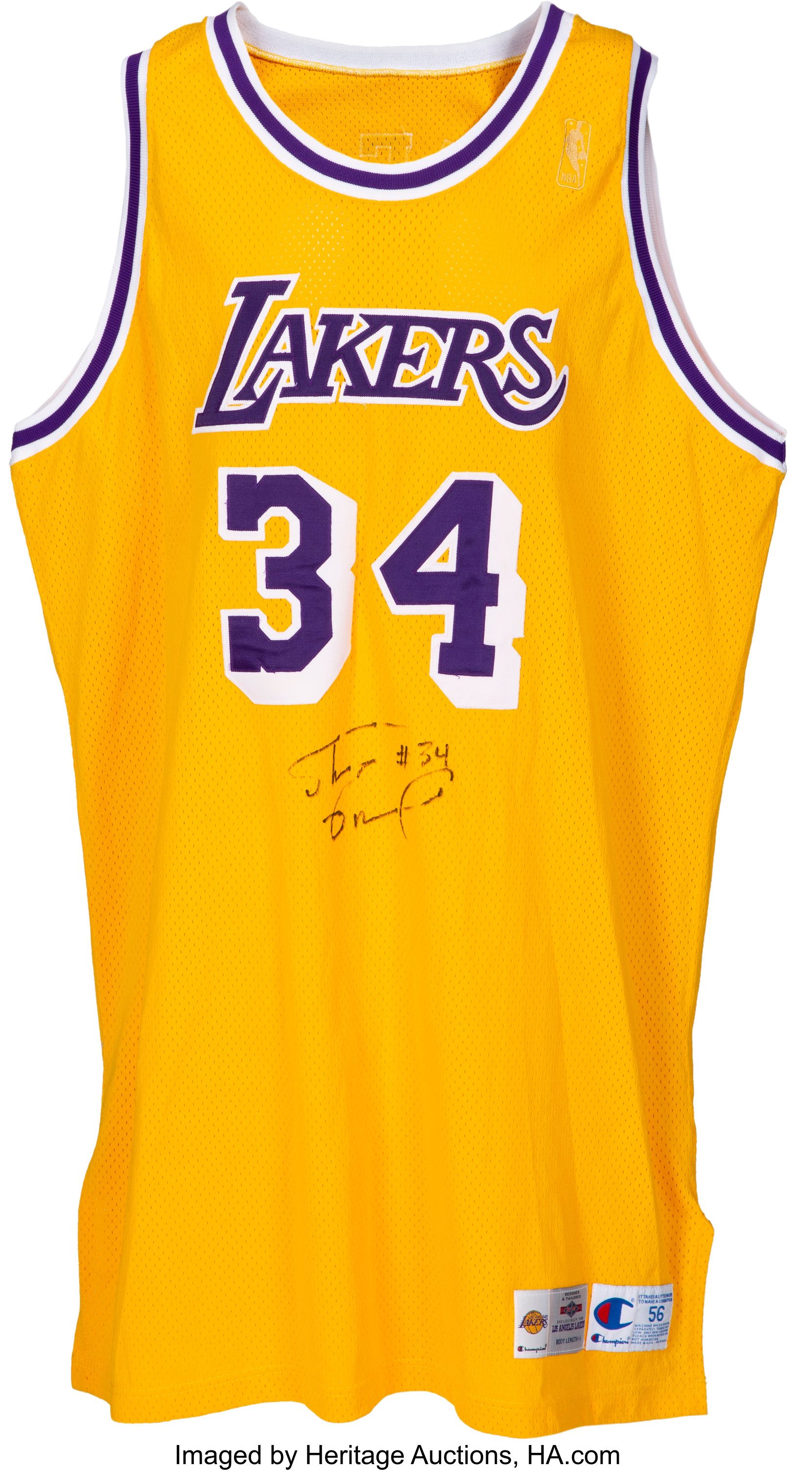 new arrival 59cf3 5e2ec 1996-97 Shaquille O'Neal Game Worn & Signed Los Angeles ...