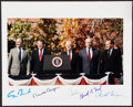 Autographs:Photos, Presidents Reagan, Nixon, Ford, Carter, & Bush Multi-Signed Photograph. ...